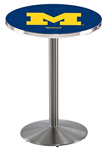 Holland Bar Stool L214S University of Michigan Officially Licensed Pub Table, 28