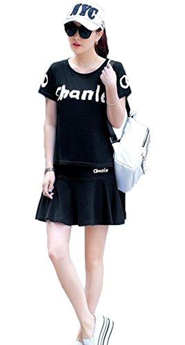 (ジュンィ) テニスウェア レディース スポーツスーツ ジャージセットアップ ゴルフウェア 夏 ポロシャツ ミニスカート 女性用 大きいサイズ