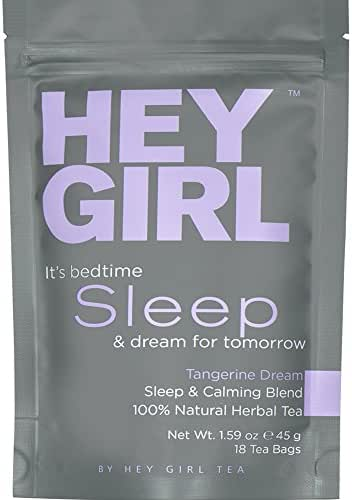 Bedtime Tea for Stress and Anxiety Relief - Herbal Sleep Aid Remedy to Relax & Get Restful Sleep at Night   with Valerian Root Extract, Chamomile and Lemon Balm