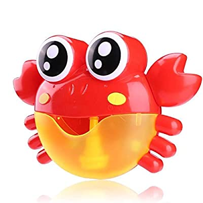 Bubble Machine Crabs Music Light Electric Bubble Maker Baby Kids Outdoor Swimming Bathtub Soap Machine with Music Water Toy Cute (Cover I): Toys & Games