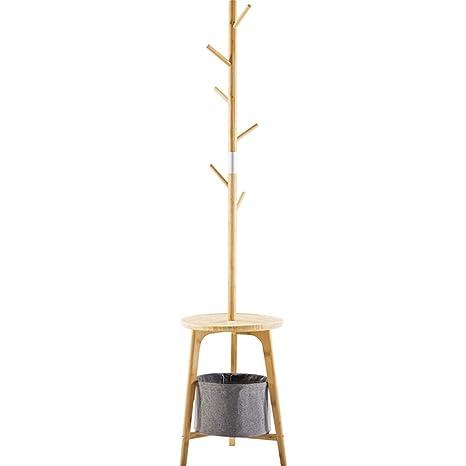 Percha de piso - Perchero de bambú de Esquina, Perchero de ...