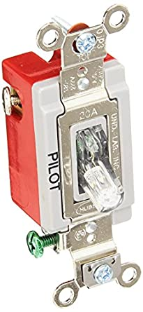 Hubbell HBL1221PLC Single Pole Toggle, Industrial Grade, 20 amp, 120 ...