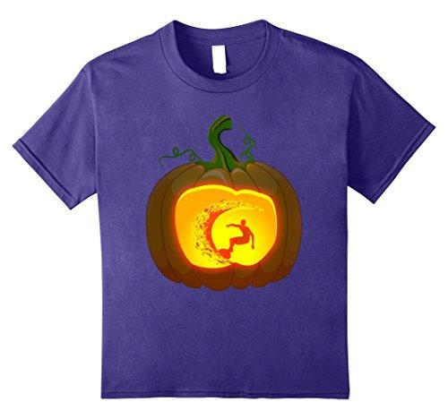 Kids surfer Pumpkin Halloween shirt 8 Purple