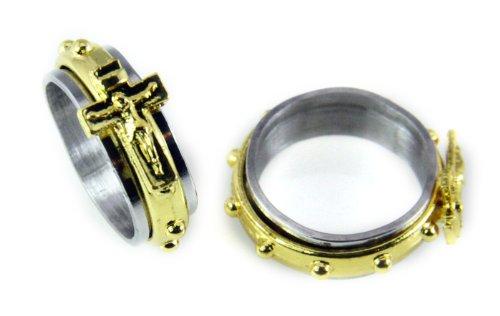 S35 Stainless Spinner Crucifix Catholic product image