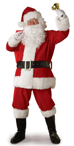 Rubie's Regal Plush Santa Suit,Red/White, Large