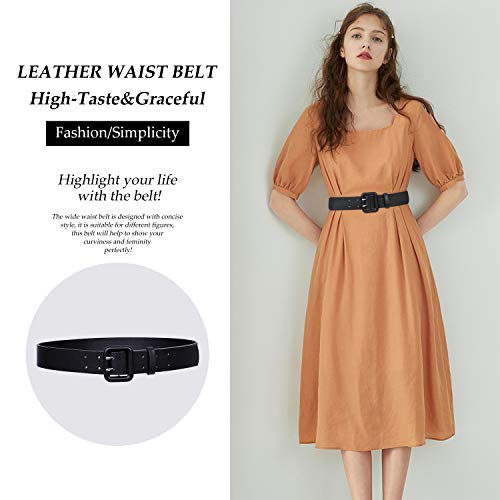 WERFORU Women Wide PU Leather Belt -Ladies Thick High Waist Belt for Dress(Suit for waist size 29