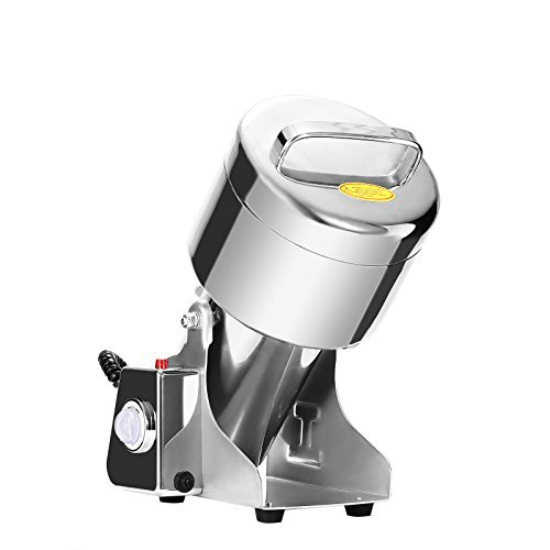 Happybuy Grain Grinder 750g Mill Powder Machine Swing Type Commercial Electric Grain Mill Grinder for Herb Pulverizer Food Grade Stainless Steel (750g)