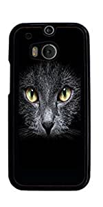 Black Cat Kitty Hard Case for HTC ONE M8 ( Sugar Skull )