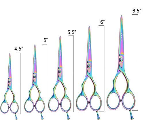 Professional Hairdressing Scissors Cutting Shears, Professional Titanium Barber Hairdressing Salon Razor Edge Scissors with Detachable Finger Rest (6.5