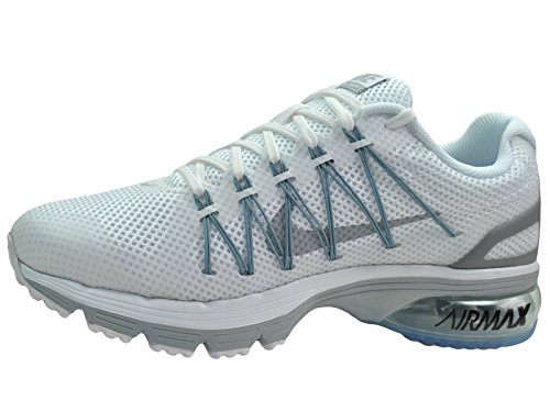 Nike Men's Air Max Excellerate 3 White / Pure Platinum / Metallic Silver Mesh Running Shoes 9 M US
