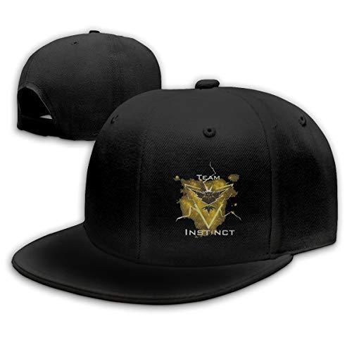 QNCCY Team Instinct Team Classic Plain Baseball Cap Unisex Cap Adjustable Hat Black ()