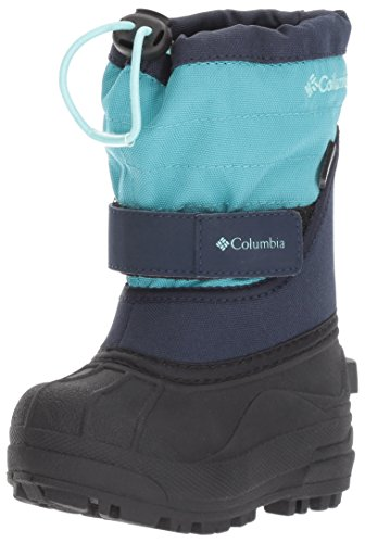 Columbia Girls' Toddler Powderbug Plus II Snow Boot, Pacific Rim, Spray, 7 M US