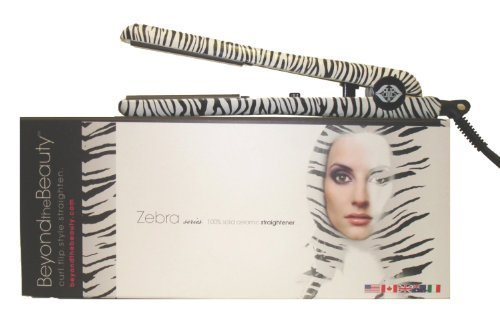 "Beyond the Beauty Zebra 1.25"" Ceramic Ionic 450F Flat Iron /"