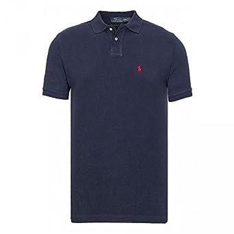 Polo Ralph Lauren Custom Fit, Navy, Large: Amazon.es: Ropa y ...