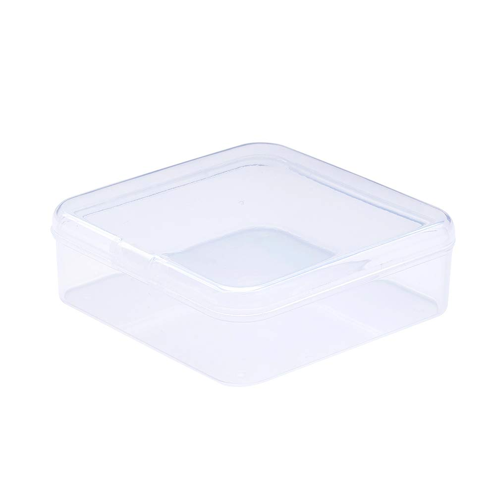 PH PandaHall 10pcs 54mm Square Plastic Bead Containers with Lid Clear Beads Display Storage Case Jewelry Box Organizer for Jewelry Making Storage