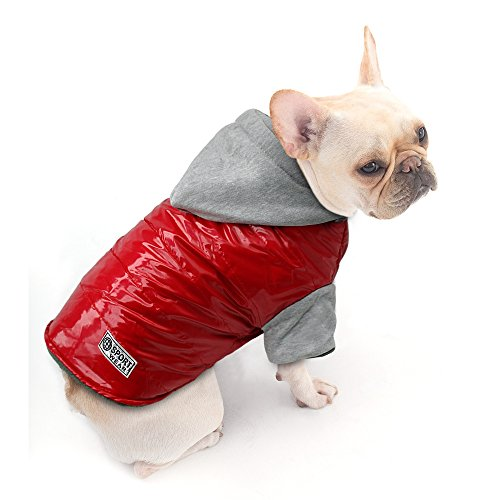 Dog Cold Weather Coat - Waterproof Windproof Dog jacket - Warm Cotton-padded Doggie Vest Pets Clothes,Back for 9