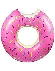 Mumoo Bear Donut Pool Gigantic Inflatable Float Swimming Jumbo Ring Summer Tube Water Toys
