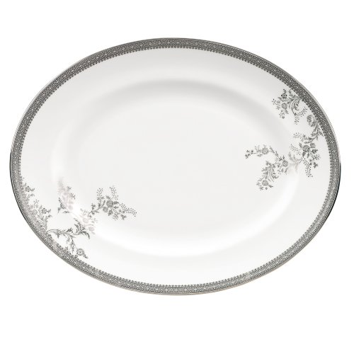 Vera Wang by Wedgwood Vera Lace 13.75-Inch Oval Platter by Wedgwood