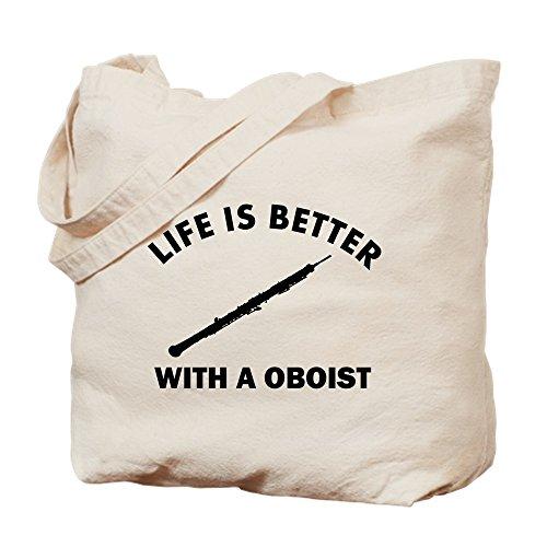 CafePress–oboist diseños–Natural gamuza de bolsa de lona bolsa, bolsa de la compra