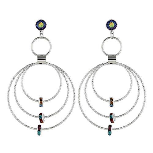 Hoop Earrings for Women,Mebamook Fashion Simple European and American Earrings Wild Ladies Fashion Jewelry ()