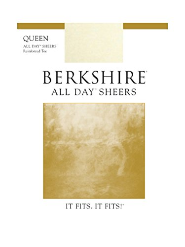 Berkshire Women's Plus Size Queen All Day Sheer Pantyhose 4404, Ivory, 5X-6X