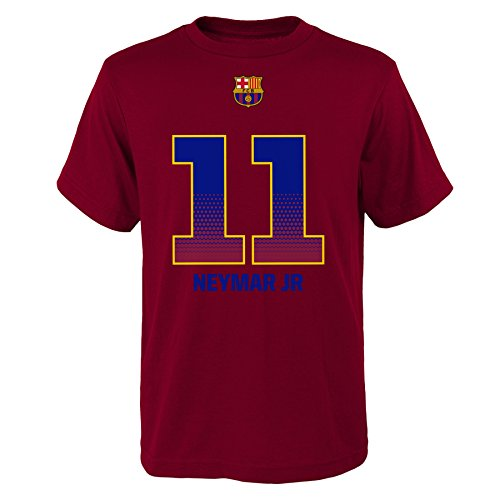 FC Barcelona Neymar JR Name & #11 Youth T-Shirt Size SM-XL Officially Licensed 100% Cotton Ships from USA (Youth Medium) ()