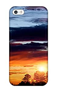 Awesome CIHjevG7558tsPxe Aarooyner Defender Tpu Hard Case Cover For Iphone 5/5s- Sunset Earth Nature Sunset