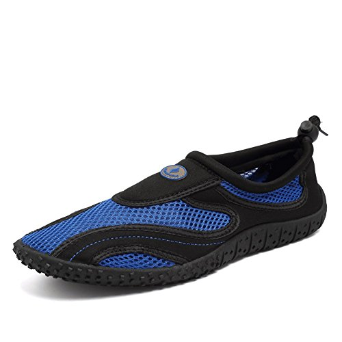 CIOR Men and Women Aqua Shoes Quick Drying Water Sports Shoes For Beach Pool Boating Swim Surf Na.black K0GMOrB2T1