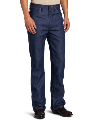 Wrangler Men's Tall Western Boot Cut Slim Jean, Navy, 36x38