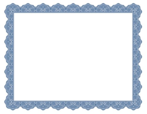 Geographics Optima Blue Certificates w/Gold Foil Seals, Pack of 25, (40725OD) - Foil Geographics