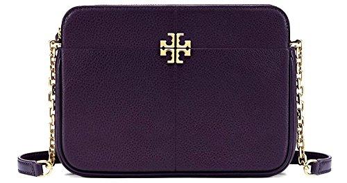 TORY BURCH Ivy Leather Crossbody Bag - Purple Tory Bag Burch