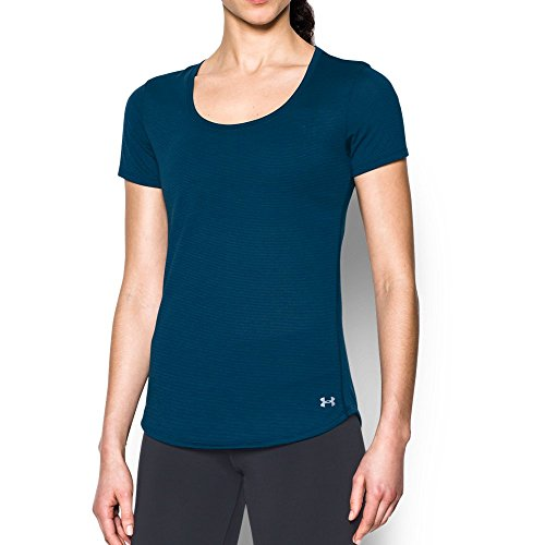 Under Armour Women's Streaker Short Sleeve Top, Small, Blackout Navy/Reflective