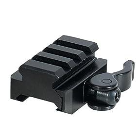 UTG 3-Slot QD Lever Mount Adaptor and Riser, Medium Profile
