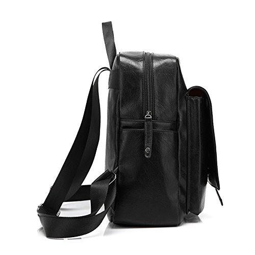 British For Vintage Girl's ZeleToile® Leather Unisex Black Bag Backpack School 12 PU Brown Handbag Style nFFxqtIPz