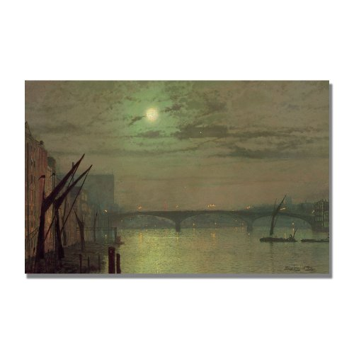 Southwark Bridge, 1882 by John Atkinson Grimshaw, 30x47-Inch Canvas Wall Art