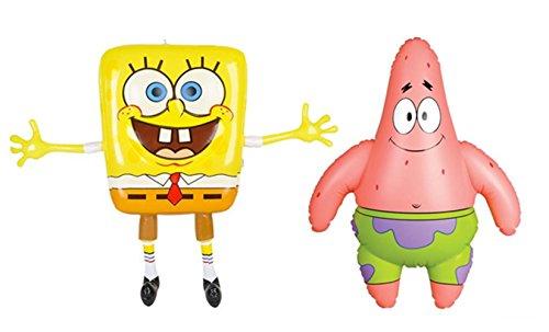 Rockymart 2 piece Set - Inflatables SpongeBob & Patrick the Starfish Cartoon Characters 24