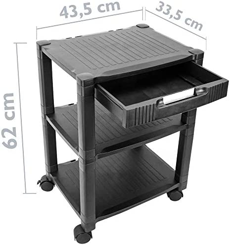 PrimeMatik - Mesa Auxiliar para Impresora Carro con Ruedas con ...