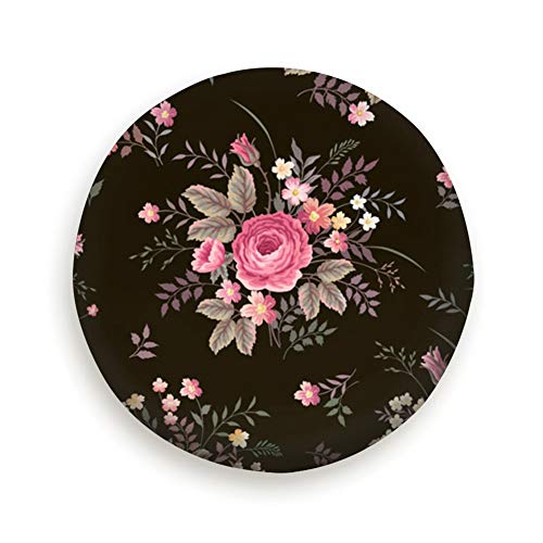 (Lichenran Floral Rose Bouquet On Spare Wheel Tire Cover 15inch)
