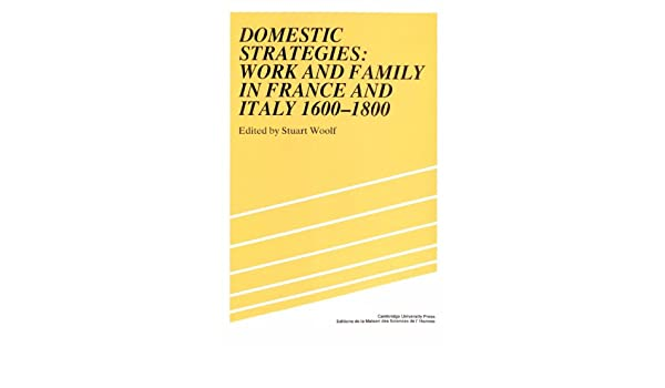 Domestic Strategies: Work and Family in France and Italy, 1600-1800 (Studies in Modern Capitalism)
