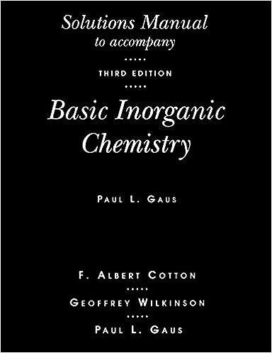 Amazon basic inorganic chemistry solutions manual basic inorganic chemistry solutions manual 3rd edition fandeluxe Images
