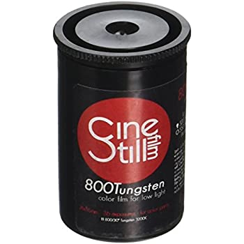 CineStill Film 800135 800 Tungsten High Speed (ISO 800) Color Film, 36 Exposures 135 DX Coded