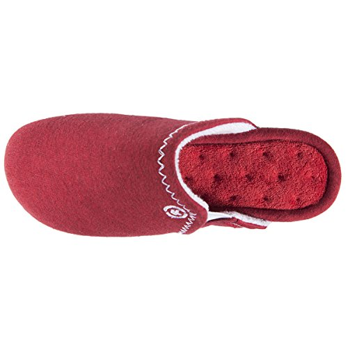 Chaussons Mules Femme Isotoner légers Rouge Ultra vaw4Zq