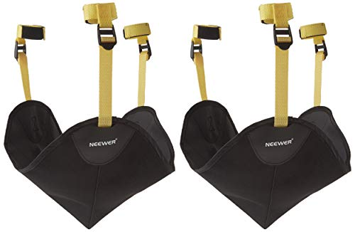 Neewer 2 Pack Black Heavy Duty Photographic Studio Video SandBag for Gitzo,Manfrotto,Didea and Benro Series Stands and Other Universal Light Stands, Boom Stand and Tripod from Neewer