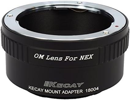 NEX-VG10 NEX-3C NEX-F3 NEX-3 OM-NEX NEX-7 NEX-5R NEX-6 KECAY Olympus Om Zuiko Lens To Sony NEX E-Mount Camera Mount Adapter Ring NEX-5 NEX-5N NEX-5C
