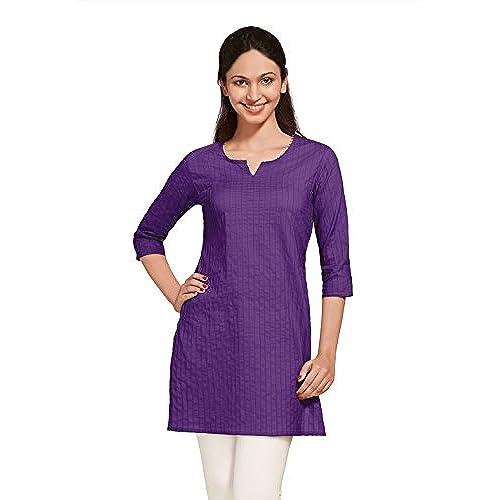Middle eastern clothing amazon shristi womens kurta tunics india ethnic pintucked medium light purple sciox Images