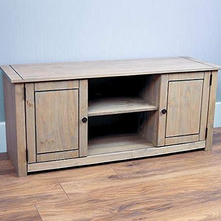 Panama Mueble para televisor con 2 Puertas y 1 Estante, Madera, Verde Pino, Dimensions (L*W*H): 120.0 x 40 x 50 cm: Amazon.es: Hogar