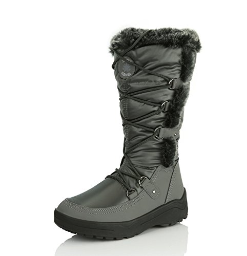 High Resistant Snow Women's Warm Gray Water Knee Eskimo Boots DailyShoes Woman's Fur up CZtOawtqx
