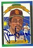Tony Gwynn autographed baseball card (San Diego Padres) 1989 Donruss No.6 Diamond Kings