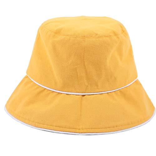LUNIWEI Women's Ladies Hat Summer Comfortable Protection Cotton Sun Cap Foldable Yelllow ()
