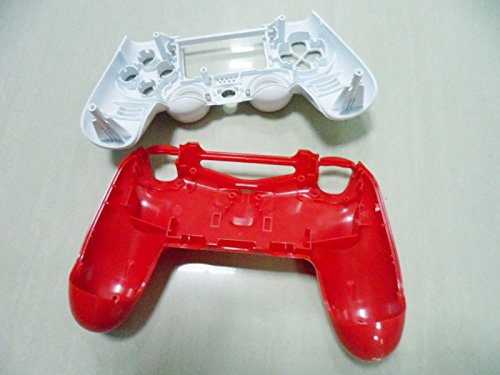White+Red Replace Housing Shell Case Cover Compatible for PlayStation PS 4 PS4 Controller DualShock 4